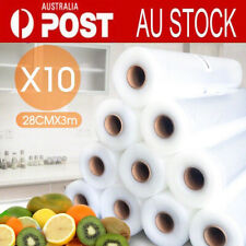 10 Rolls Vacuum Foodsaver Sealer Embossed Bag Storage Commercial Heat Grade AU
