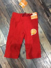 Gymboree Holiday Shop Nwt Red Boys Gymster Pants Fleece Lined 6-12 M