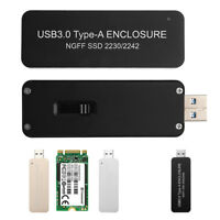 USB3.0 To 2230 2242 NGFF M.2 SATA protocol B Key SSD External Enclosure Case
