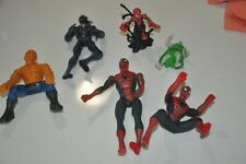 Lot of 5 Spiderman & Fantastic 4 Figures Thing Human Torch Venom Hasbro 6 inch