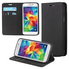 Custodia per Samsung Galaxy S5 mini Cover Case Portafoglio Wallet Etui Nero