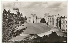 Warwickshire Postcard - Warwick Castle - Courtyard from Ethelfleda's Mound V1820
