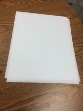 11 x 14 Acetate Clear Plastic Sheets .005 Thick 10 Sheets Loose