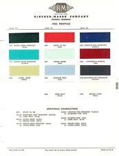 1953 PONTIAC CHIEFTON CATALINA WAGON PAINT CHIPS (R-M)