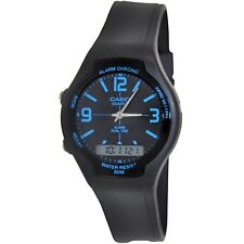 Casio AW90H-2B Men's Black Dial Blue Index Analog Digital Dual Time Zone Watch