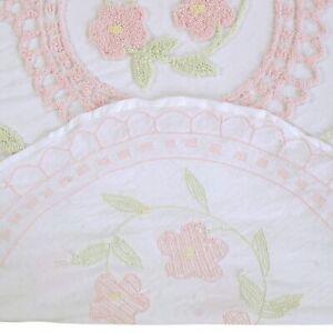 "Bloomfield Chenille Bedspread Queen 102""X110""  in - Rose"