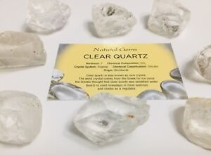 Clear  Quartz 30-35mm rough the  master healer with free organza bag and  Card