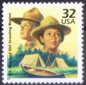 Boys & Girl Scout, Millennium, USA 1998 MNH -