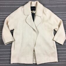 Massimo Dutti Womens Open Front Coat Size S Small Beige Linen Jacket NWT $345