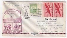 1947 Boston MA FAM 27 Airmail FFC to Lydda Palestine
