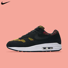 Nike Women's Air Max 1 SE Tartan Black University Red Running Shoes AV8219-001