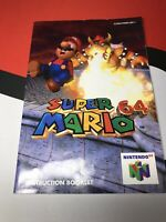 SUPER MARIO 64 (Nintendo 64 N64) Original Instruction Manual