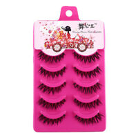 5 Pairs Natural Cross Eye Lashes Extension Makeup Long A20. Eyelashes False U8U3