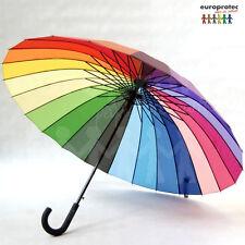 Regenschirm Bunt /Regenbogen mit 24 Segmente, Sehr Groß !!!