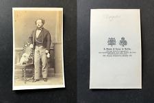 Haase, Berlin, Gustave-Hippolyte Roger, ténor vintage cdv albumen print - Gust