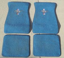 Ford Mustang Vintage Embroidered Blue Carpet Floor Mats