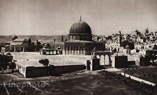 1925 Vintage JERUSALEM Temple Landscape ISRAEL Palestine Art LEHNERT & LANDROCK