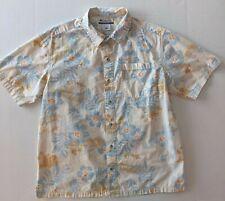 Columbia Hawaiian Style Shirt Flowers Fronds Medium
