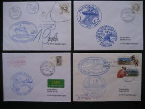 4 Briefe Polarpost Schiffspost Deutschland Arktis Antarktis Schiffe Cachets P 32