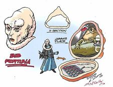 STAR WARS Bib Fortuna + Jabba GALOOB X-Section Playset Color Guide E. McCarthy