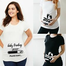 T-shirt Pregnancy Mom Clothes Baby Loading 2021 Pregnant Maternity Short Sleeve