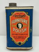 Rawleigh's Furniture Polish Cleaner VTG Advertising Collectible Tin Container