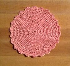 """DOLL HOUSE MINIATURE AREA RUG -- Light Pink Solid - fIts Renwal - 3-1/2"""" Diam"""