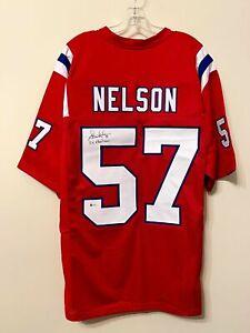 Steve Nelson Signed New England Patriots Jersey Beckett BAS COA NDSU Bisons Auto