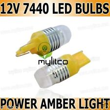 2 x WY21W 7440 T20 HIGH POWER SIGNAL Indicator FLASHER Car Bulb AMBER Capless