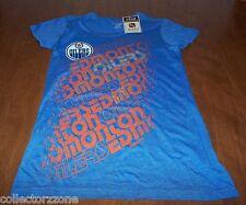 NWT - NHL - EDMONTON OILERS - WOMEN'S CCM FAN SHIRT - SMALL - BLUE