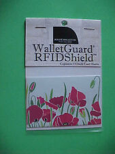 Rogue Credit Card Guard RFID  Protector Sleeve New Poppy Pattern