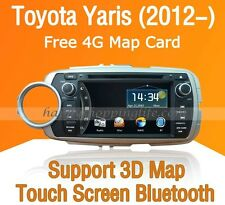 2Din Car Dash DVD GPS Navigation BT Radio Stereo for Toyota Yaris Vitz 2012-2014