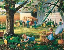 John Deere Tractor Art Print Vintage Farming Pedal Toys Charles Freitag Artwork