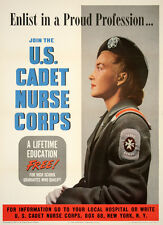 Original Vintage WWII Poster Enlist in a Proud Profession-US Cadet Nurse Corps