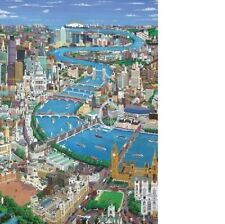 Wentworth London the Thames 250 Piece Wooden Jigsaw Puzzle Wood