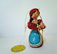 Christmas Around The World Ornament Sears Russia Tree Ornament Vtg 1981 Wooden