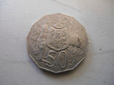 """1981 50 cent 50c coin """" COAT of ARMS STANDARD Design  """"  SCARCE COIN"""