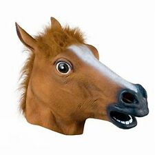 Fancy Dress Halloween Horse Head Mask Latex Animal Cosplay Party Costume