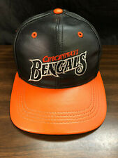 Cincinnati Bengals Leather Snapback Hat Team NFL Vintage 1980's Modern N.Y. USA