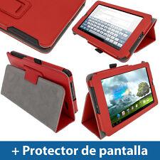 "Rojo Funda Eco-Piel para Asus MeMo Pad ME172V 7"" 3G Android Tablet 16/32GB"