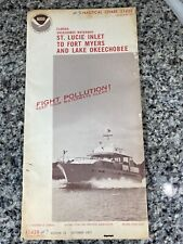 Vtg 1977 FL St Lucie Inlet To Ft Myers Nautical Chart 11428 Map 15th Ed. NOAA