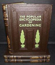**The Popular Encyclopedia of Gardening- 3 vol set, c1930's. HB, Waverley