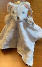 Elegant Baby Security Blanket Gray Mouse Pink Ears Silver Crown New