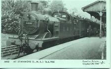 Pamlin repro photo postcard M952 Steam train Stanmore in 1934 LMS Jinty 6408