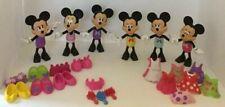 Disney Minnie Mouse Bowtique Dress Up Doll Lot Snap Style Clothes Shoes