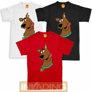 Kids Adults Scooby Doo Character Face Fitted Brown T-Shirt Top   Sizes S-XXL