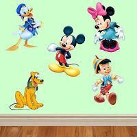 Disney Multi pack wall stickers kids children bedroom wall vinyl art mickey