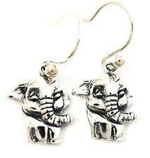 Dangle Earrings New Top Quality Jewelry Cute Little Elephant Sterling 925 Silver