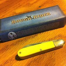 "Rough Rider Tiny 2"" Yellow Synthetic 2 Blade Jack Knife  RR920"