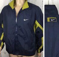 Vintage Nike Air Jacket Windbreaker Unlined Retro 90s Swoosh Full Zip Men Sz L